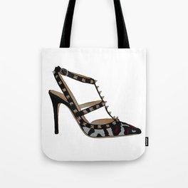 Leopard Valentino Rockstud pumps fashion illustration pink  Tote Bag