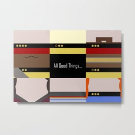 TNG - All Good Things - Minimalist Star Trek TNG The Next Generation 1701 D  startrek  Trektangles Metal Print