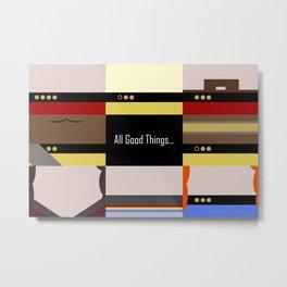 TNG - All Good Things - Minimalist Star Trek TNG The Next Generation 1701 D  startrek  Trektangles Metal Print