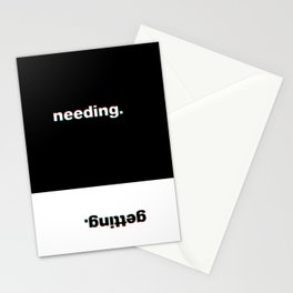 Needing/Getting Stationery Cards