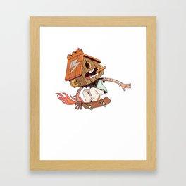 Skater (Bird Brain) Framed Art Print