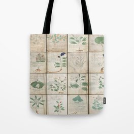 The Voynich Manuscript Quire 1 - Natural Tote Bag