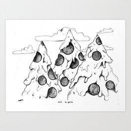 MT. Pizza Art Print