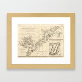 Vintage Map of Istanbul Turkey (1784) Framed Art Print