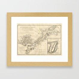 Vintage Map of Istanbul Turkey (1784) Framed Art Print