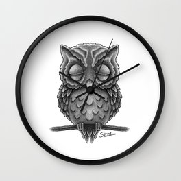 Sleeping Owl Wall Clock