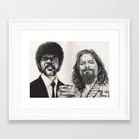 lebowski Framed Art Prints featuring PULP LEBOWSKI by waynemaguire777