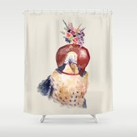 robin hood Shower Curtains featuring hood by Yuli Klaus