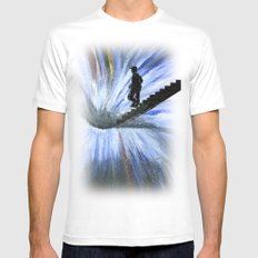 Into the Unknown MEDIUM Mens Fitted Tee White