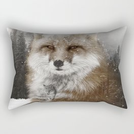 Fox Stare Rectangular Pillow
