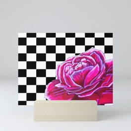 Rose with pattern Mini Art Print