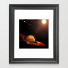 Space & Planet Framed Art Print