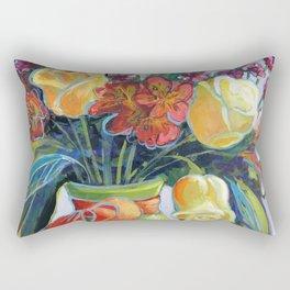 HAPPY BIRTHDAY FLOWERS Rectangular Pillow