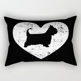 Australian Silky Terrier heart Rectangular Pillow