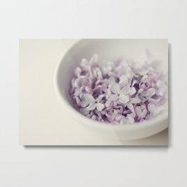 Bowl of Lilacs Metal Print