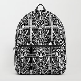 Deco Architectural Pattern, Black and White Backpack