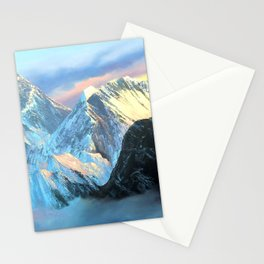 Panoramic Sunrise View Of Everest Mountain Stationery Cards