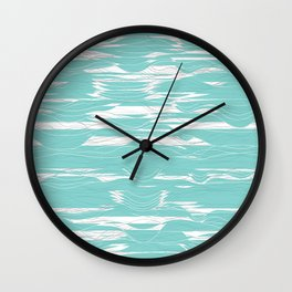 Lines and Waves Wall Clock