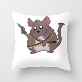 Chinchilla Gift Funny Throw Pillow