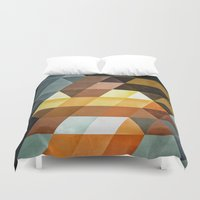 spires Duvet Covers featuring gyld^pyrymyd by Spires
