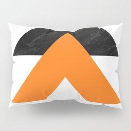 Forward arrows marble orange Pillow Sham