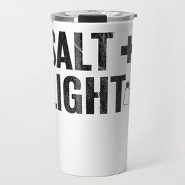 Salt & Light Cross Bible Christian Matt 513 17 Images Black Distressed Travel Mug