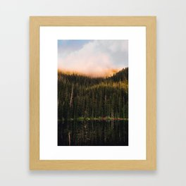 Golden Reflection Framed Art Print