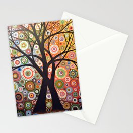 Abstract Art Landscape Original Painting ... Magic Garden Stationery Cards