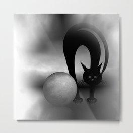 dreaming of mooncats bw -2- Metal Print