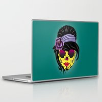 sugar skull Laptop & iPad Skins featuring SUGAR SKULL by mark ashkenazi