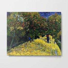Avenue with Flowering Chestnut Trees, Paris, France by Vincent van Gogh Metal Print