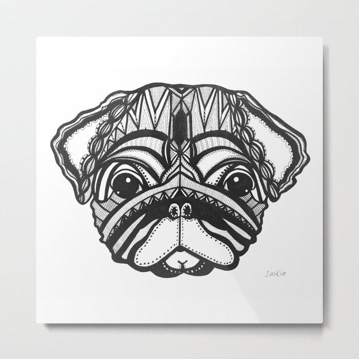 Doug the Pug Metal Print