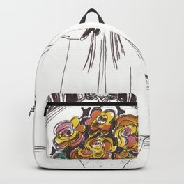 Red Roses by Christiane Backpack