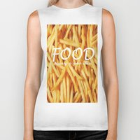 food Biker Tanks featuring Food by The Fifth Motion