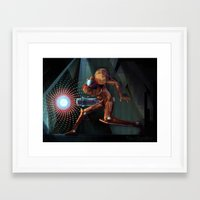 samus Framed Art Prints featuring Samus! by RoboChandler