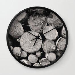 The Woodpile Wall Clock