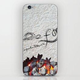 Defy conformationtotheworld iPhone Skin