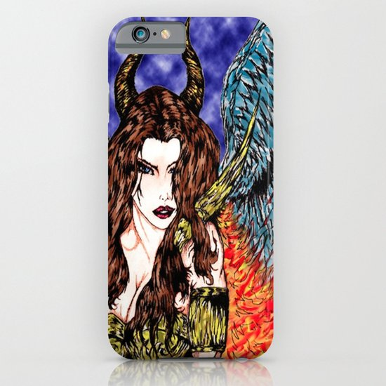 angel or demon in color iPhone & iPod Case