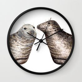 Grey seals(Halichoerus grypus) Wall Clock