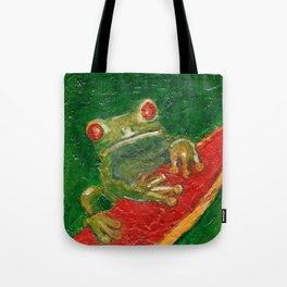 Red Eyed Frog Tote Bag