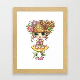 Sherri Baldy My Besties Sugar Plum Treats Big Eyed Art Framed Art Print