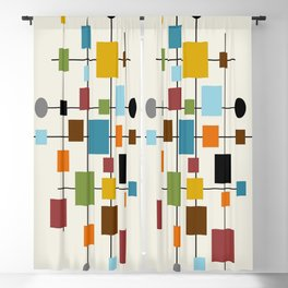 Mid-Century Modern Art 1.3 Blackout Curtain