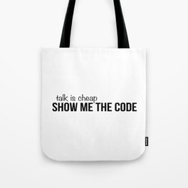 Show me the code Tote Bag