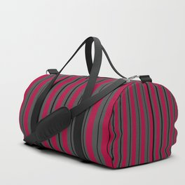 Red grey stripes Duffle Bag