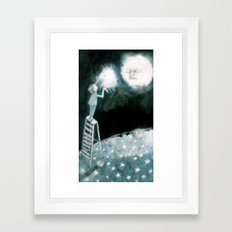 lights will guide you home... Framed Art Print