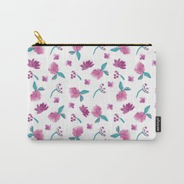 Beautiful Cute Flowers Pattern Print Carry-All Pouch
