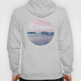 Pacific Dreamscape - Ocean Waves Pink + Blue Hoody