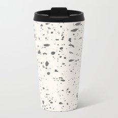 Retro Speckle Print - Bone Metal Travel Mug