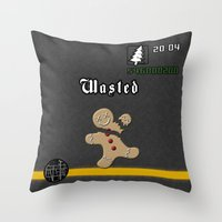 andreas preis Throw Pillows featuring Christmas inspired by GTA Grand Theft Auto San Andreas by Purshue feat Sci Fi Dude