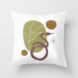 Serpent Garden Throw Pillow